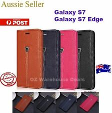 Leather Fitted Cases/Skins with Clip for Samsung Galaxy S7