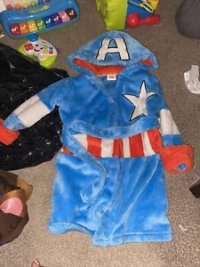 Captain America Dressing Gown Robe 3-4 Years