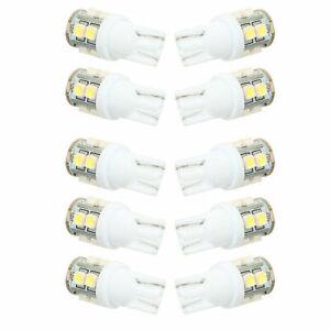 10x Bombilla T10 1210 10SMD White Car LED Light Lamp Bulbs - 194,168,2825, W5W