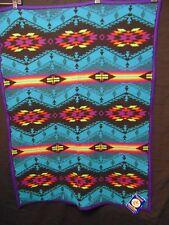 "Beaver State PENDLETON Friendship Blanket 32""x44"" Spirit of the Peoples Turquois"
