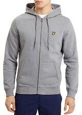 Lyle & Scott Uomo Zip Logo hoodie Galestroso Grigio X-large