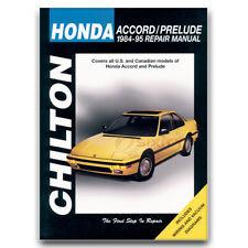 Chilton 30150 Repair Manual Honda Accord & Prelude 1984-95 Shop Service qt