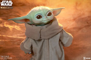 Sideshow Mandalorian The Child Grogu Baby Yoda Life Size Statue NEW In Box
