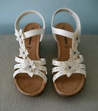c21b07d220cd9 Linea Supremo Off White Flower Motif Sandals - size 6 (EU 39)