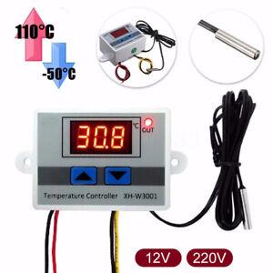 Incubator Digital Temperature Controller Thermostat Control W/ Switch+Probe TS