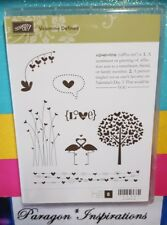 Stampin Up VALENTINE DEFINED Clear Mount Love Tree Silhouette flamingos Hearts