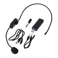 UHF Wireless Microphones Stage Wireless Headset Microphone System Mic For L