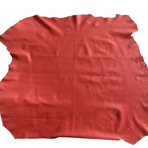 Red Craft Leather Genuine Lambskin Soft Upholstery Material Sewing Fabric 940