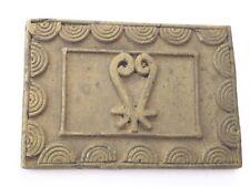 Antique African Ashanti Lost Wax Brass Ghana Gold Weight (Sankofa) Symbol