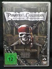 Pirates of the Caribbean 1 2 3 4 QUADROLOGY 4-Disc DVD Set Disney REGION 2