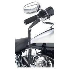 "Pair of Black Leather Motorcycle Lever Covers Brake Clutch Biker 12"" Fringe"