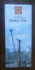 1964  Quebec City street map Shell oil  gas Canada