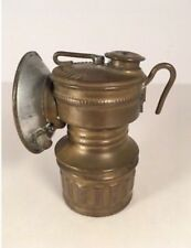 Vintage Guy's Dropper Brass Carbide Miner's Lamp with reflector - Universal Lamp