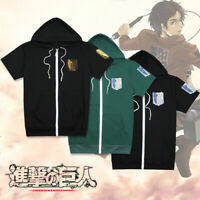 New Anime Attack on Titan White Unisex Men Casual Short Sleeve T-Shirt Tops #C1