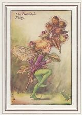CICELY MARY BARKER c1930 THE BURDOCK FAIRY Painting Vintage Art Book Print