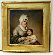 Large Framed 19C French School Woman Child Painting Attrib Louis-Leopold Boilly