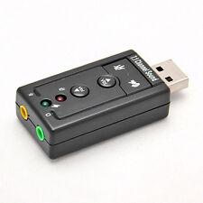 TARJETA DE SONIDO EXTERNA 7.1 CANALES USB 2.0 ADAPTADOR 3D AUDIO VIRTUAL SOUND