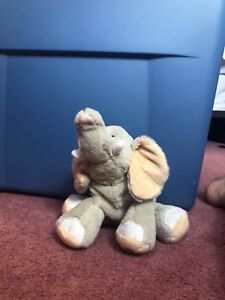 webkinz elephant (good condition and no code) color: grey, tan and white