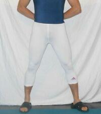 Adidas Climalite TIGHTS White 3/4 Compression SPANDEX PANTS Sz Small