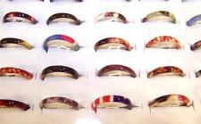 100 RINGS BULK LOT OF GIRLS FIMO STYLE WEDDING BAND RING free display box HIPPIE