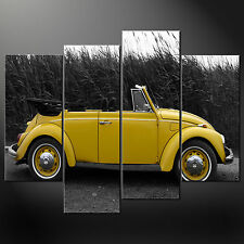 BEETLE VW  CLASSIC QUALITY CASCADE CANVAS PRINT PICTURE READY TO HANG