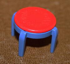 Playmobil mobilier chaise rouge et bleu chambre d'enfant 3964 3967 ref gg