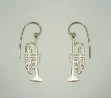 ORECCHINI pendenti con Tromba in Argento 925 - amo - musica -
