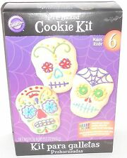 Wilton Pre-Baked Cookie Kit Day of the Dead Skull Skelton Wedding Party NEW