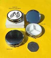 Cavalier King Charles Spaniel Dog Shiny Polished Metal Round Pill Box Gift