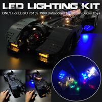 ONLY LED Light Lighting Kit For LEGO 76139 1989 Batmobile DC Batman Bricks