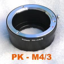 Pentax PK Lens to Micro 4/3 m4/3 Adapter for BlackMagic Design MFT Mount Camera