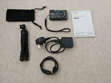 Sony Cyber-shot DSC-WX100 - 18.2MP - Digital Camera - Black With Accessories