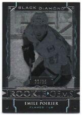 2015-16 Black Diamond Rookie Gems Pure Black RG-EP Emile Poirier RC 22/25 Flames