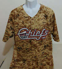 MiLB Syracuse Chiefs Camouflage Promotion Replica Jersey Mens L