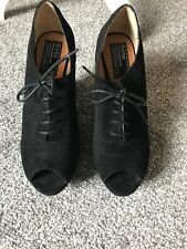 Bertie Black Wedge Shoes Size 41 Suede