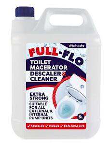5L FULL-FLO Macerator Descaler Cleaner Pump - Saniflo Safe - PRO STRENGTH