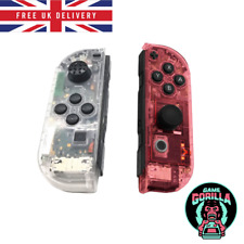 Clear Red & Transparent Shell Case Nintendo Switch Joy-Con Housing Controllers