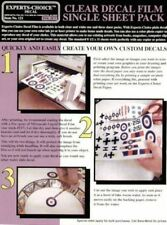 CLEAR DECAL FILM FOR INKJET PRINTER BY EXPERTS-CHOICE MAKE YOUR OWN DECALS