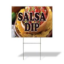 Weatherproof Yard Sign Salsa Dip Outdoor Advertising Printing Yellow Lawn Garden