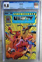 Unity #1 PLATINUM VARIANT Valiant 1992 CGC 9.8 NM/MT White Pages Comic P0009