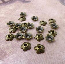 10 grams (90 bead caps) Tibetan Style Small Bead Caps in Bronze Colour