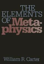 The Elements Of Metaphysics (The Heritage series in philosophy) (Of Washington;