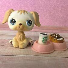 100% AUTHENTIC Littlest Pet Shop LPS #140 White Golden Retriever w Accessories