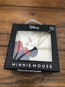 Disney Super Cute Minnie & Mickey Mouse Necklace Gift