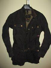 Belstaff Black Prince Weatherproof Women Nylon moto cafe racer jacket Medium 42