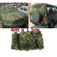 13x5FT Woodland Camouflage Net Hunting Camping Camo with String Netting Backing