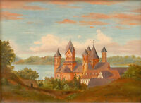 """perfact 36x24 oil painting handpainted on canvas""""abbey"""" NO3757"""