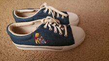 90s Vintage Disney Winnie the Pooh Denim Platform Shoes Womens Sneakers Size 8