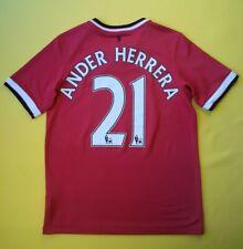 5/5 Ander Herrera Manchester United kids jersey 13-14 yeras 2014 shirt Nike ig93