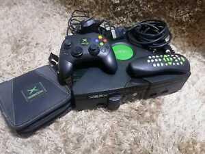 Original Xbox Console (Evo-X Mod) + 1 Madcatz Green Transparent Clear Controller